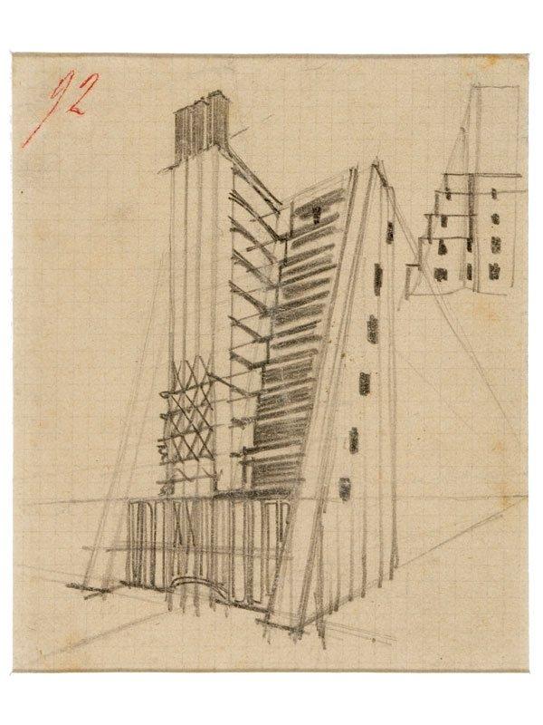 Casa a gradinata con ascensori esterni studio prospettico for Case con ascensori